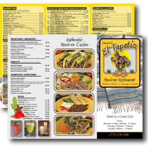 FULL COLOR MENUS
